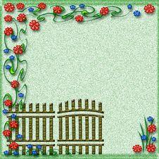 Free Garden Gate Scrapbook Stock Photo - 6912980