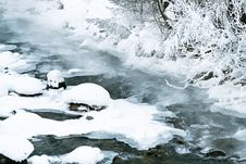 Free Hoarfrost On The River Stock Photography - 6913012