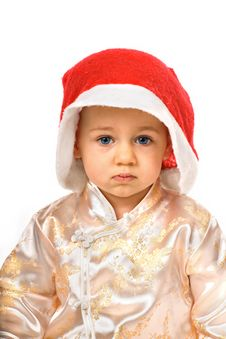 Free Baby Wearing Santa Claus Hat Royalty Free Stock Photography - 6913257