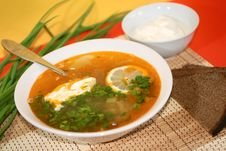 Free Russian Traditional Soup - Solyanka Royalty Free Stock Image - 6913326