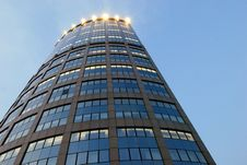 Free Blue Walls Of Skyscraper Stock Photography - 6913332