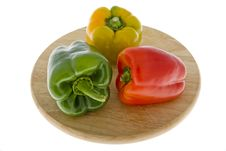 Free Peppers In Three Colors Stock Photo - 6914080