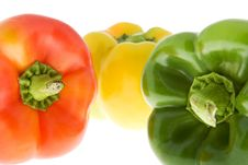 Free Peppers In Three Colors Royalty Free Stock Photography - 6914087