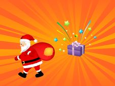 Free Santa Claus With Gift Bag Stock Photo - 6914340
