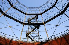 Steel Structure With Stairs Royalty Free Stock Photos