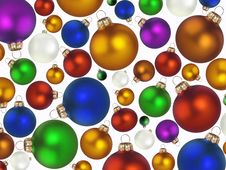 Christmas Colorful Balls Stock Photos