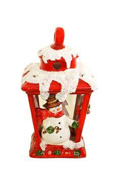 Free Snowman Lantern Royalty Free Stock Image - 6914616