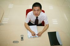 Free Young  Businessman In His Office Stock Images - 6914654