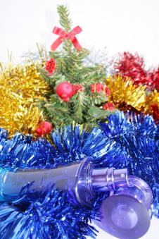 New Year S Gift - Perfume Royalty Free Stock Photo