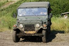 Free Milutary Jeep Royalty Free Stock Photo - 6915245