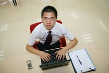 Free Young  Businessman In His Office Royalty Free Stock Photography - 6915327
