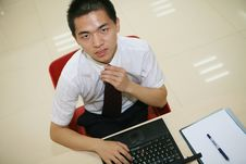 Free Young  Businessman In His Office Stock Photography - 6915382