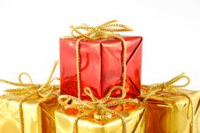 Boxes With Gift Royalty Free Stock Photography