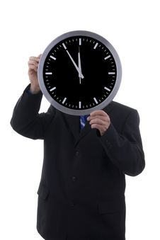 Free Businessman With Clock Royalty Free Stock Photos - 6916248