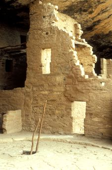 Mesa Verde Cliff Dwellings Royalty Free Stock Photo