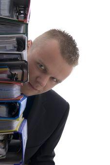 Free Man Behind File Royalty Free Stock Photos - 6916468