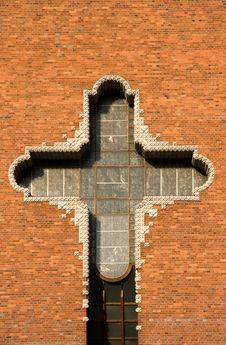 Free Big Cross On Church Wall Royalty Free Stock Photo - 6917175