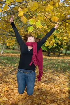 Free Woman In Park Stock Image - 6917291