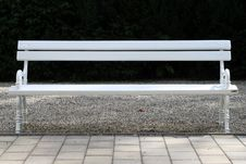 Free Empty Park Bench Royalty Free Stock Images - 6917379