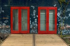 Free Red Closed Doors Royalty Free Stock Photo - 6917385