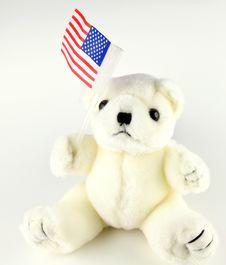 Free Patriotic Teddybear Royalty Free Stock Photo - 6917535