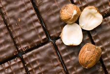 Free Chocolate Cookies With Nuts Stock Photography - 6917762