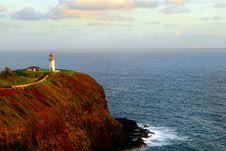 Kilauea Lighthouse In Kauai Stock Photos
