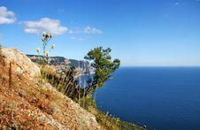 Balaclava Mountains And Black Sea Stock Photos