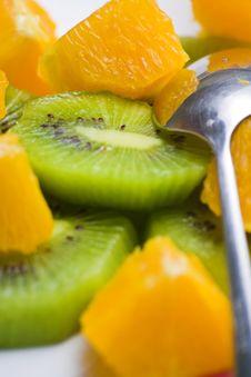 Free Dessert Of Kiwi And Orange Stock Image - 6918221