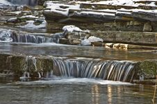 Free Mountain Stream In The Winter. Royalty Free Stock Photo - 6918445