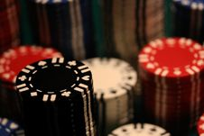 Free Poker Chips Stock Photography - 6918852