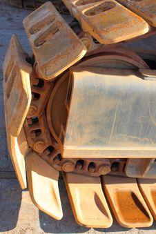 Free Fragment Of Caterpillar Track Royalty Free Stock Photos - 6918858