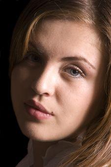 Beautiful Young Hispanic Woman In Closeup Stock Images