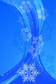 Free Snowflake Blue Background Stock Photos - 6919533