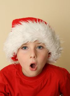 Free Boy In Santa Hat Royalty Free Stock Photo - 6919695