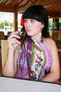 Free The Girl With A Wine Glass Royalty Free Stock Image - 6923146