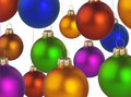 Free Christmas Colorful Balls Royalty Free Stock Photos - 6923678