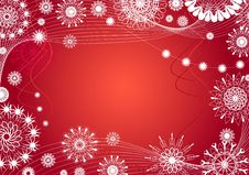 Christmas Abstraction. Vector Royalty Free Stock Image
