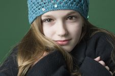 Free Teen Girl In A Hat And Coat Royalty Free Stock Photo - 6920065