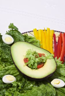 Avocado Salad Stock Images