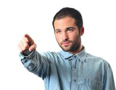 Free Young Man Pointing At Stock Images - 6921304