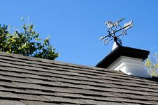 Weathervane On Roof Stock Photo