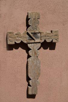 Free Wooden Cross On Adobe Royalty Free Stock Photos - 6921968