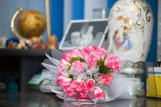 Wedding Bouquet On A Table Royalty Free Stock Photography
