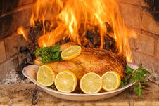 Free Hen A Grill. Royalty Free Stock Images - 6922739