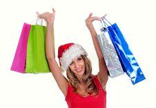 Free Santa Girl Stock Image - 6922811