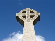 Free Old Celtic Cross Against Sky In Wales Stock Photography - 6922852