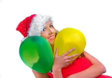 Free Santa Girl Royalty Free Stock Images - 6922859