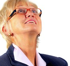 Free Senior Businesswoman Looking Up Stock Images - 6923364