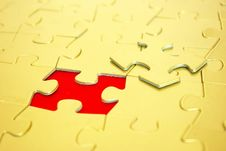 Free Gold Puzzles Stock Photography - 6923412